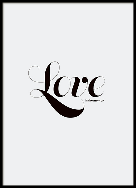 Love is the Answer Poster in the group Prints / Typography & quotes at Desenio AB (11239)