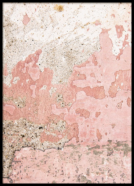 Old Pink Wall Poster in the group Prints / Art prints / Abstract art at Desenio AB (11243)
