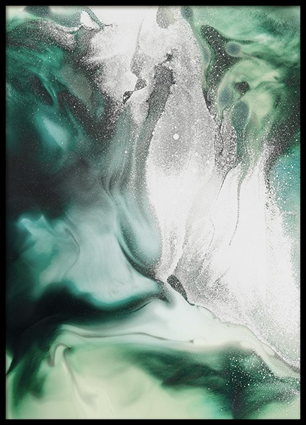 Abstract Green Painting Poster in the group Prints / Art prints at Desenio AB (11264)