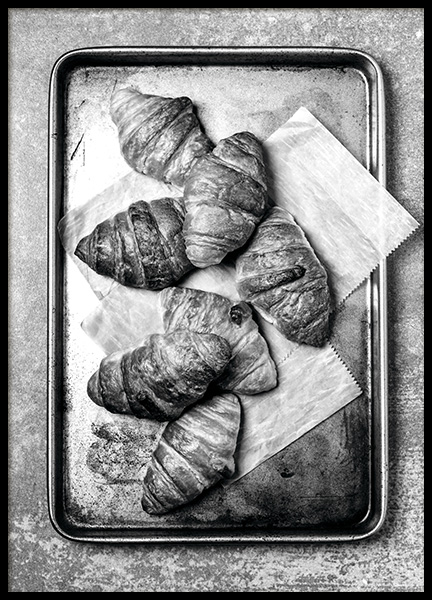Croissants On Tray Poster in the group Prints / Kitchen at Desenio AB (11273)