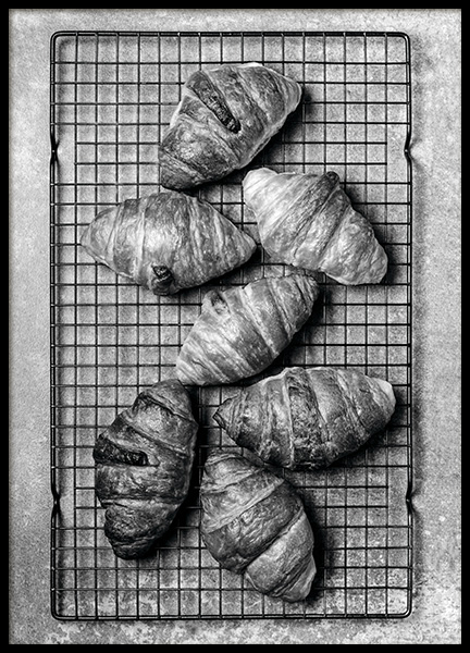 Croissants Poster in the group Prints / Black & white at Desenio AB (11274)