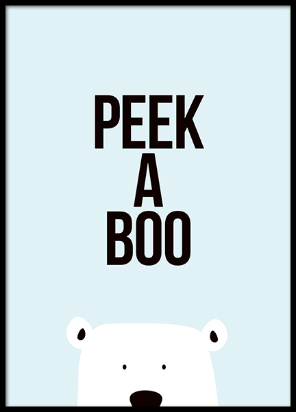 Peek a Boo Poster in the group Prints / Kids at Desenio AB (11287)