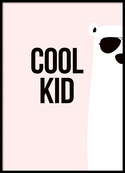 Cool Kid Poster in the group Prints / Kids wall art at Desenio AB (11288)