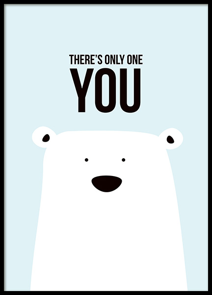 There's Only One You Poster in the group Prints / Kids wall art at Desenio AB (11289)