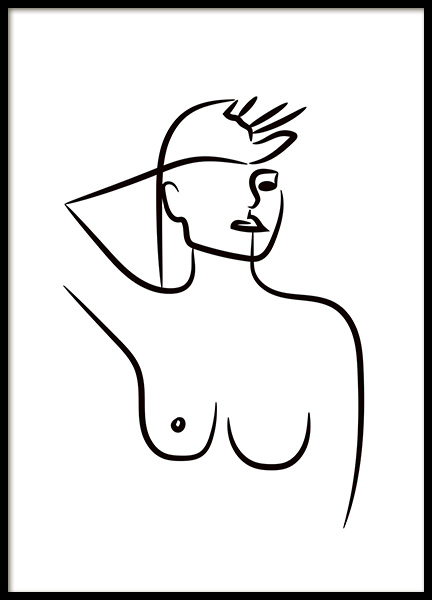 Femme Ink Portrait Poster in the group Prints / Black & white at Desenio AB (11301)