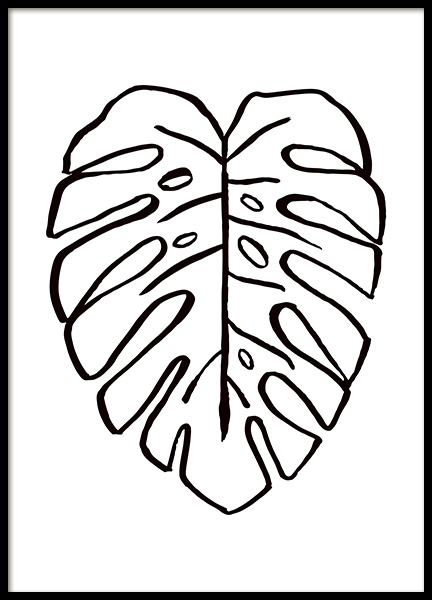 Monstera Ink Drawing Poster in the group Prints / Art prints at Desenio AB (11304)