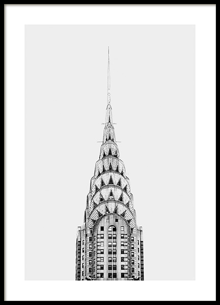 Chrysler Building Poster in the group Prints / Black & white at Desenio AB (11306)