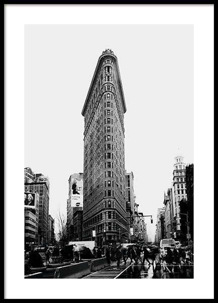 Flatiron Streets Poster in the group Studio Collections / Studio Cosmopolitan / New York at Desenio AB (11308)