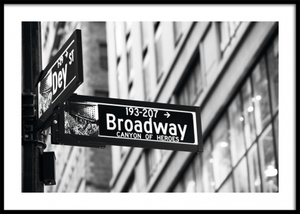 Broadway Sign Poster in the group Prints / Studio Collections / Studio Cosmopolitan / New York at Desenio AB (11311)