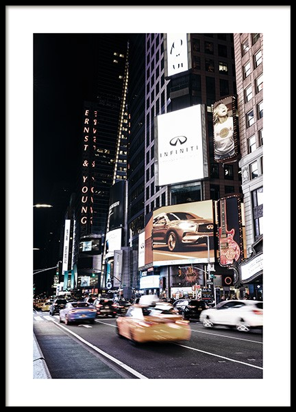 Times Square by Night Poster in the group Prints / Photographs at Desenio AB (11322)
