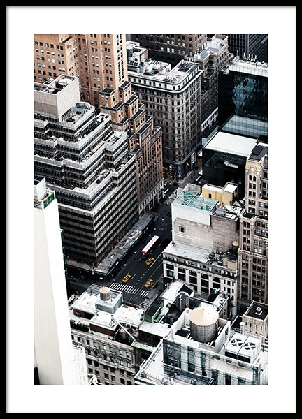 New York View Poster in the group Studio Collections / Studio Cosmopolitan / New York at Desenio AB (11324)