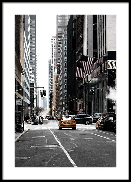 New York Street Poster in the group Prints / Photographs at Desenio AB (11326)