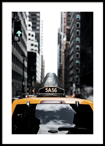 NYC Taxi Poster in the group Studio Collections / Studio Cosmopolitan / New York at Desenio AB (11327)