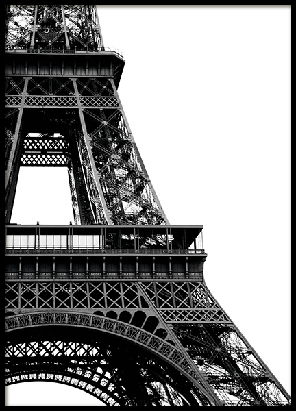 Eiffel Tower Close Up Poster in the group Prints / Black & white at Desenio AB (11330)