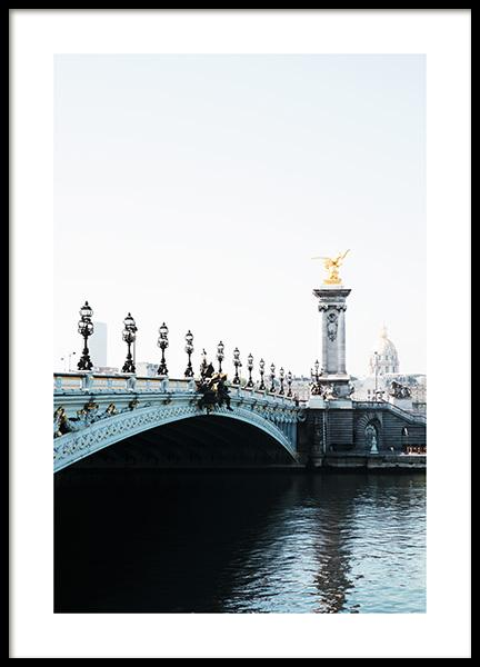 Pont Alexandre III Poster in the group Studio Collections / Studio Cosmopolitan at Desenio AB (11336)