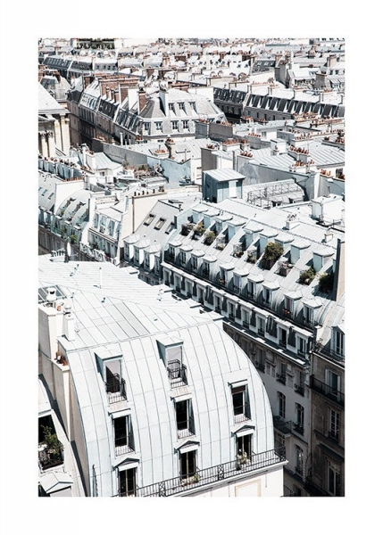 Paris Rooftops Poster in the group Prints / Photographs at Desenio AB (11337)
