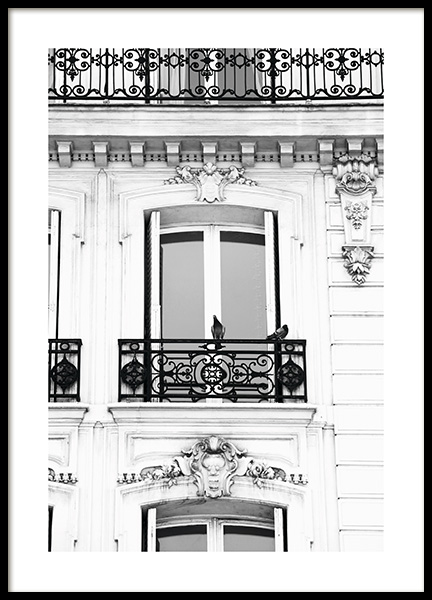 French Balcony Poster in the group Prints / Photographs / Architecture at Desenio AB (11342)