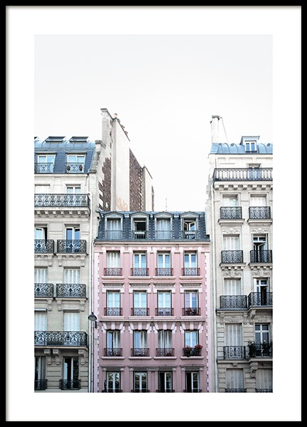 Pink Facade in Paris Poster in the group Prints / Photographs at Desenio AB (11348)