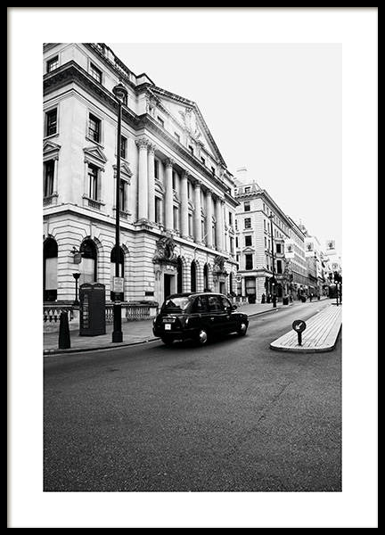 London Taxi Poster in the group Prints / Black & white at Desenio AB (11363)