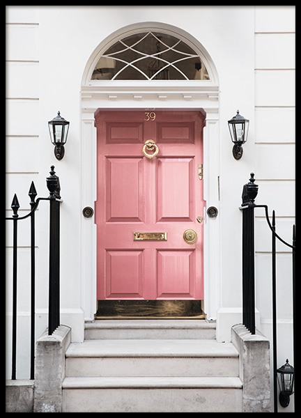 London Pink Door Poster in the group Studio Collections / Studio Cosmopolitan / London at Desenio AB (11368)