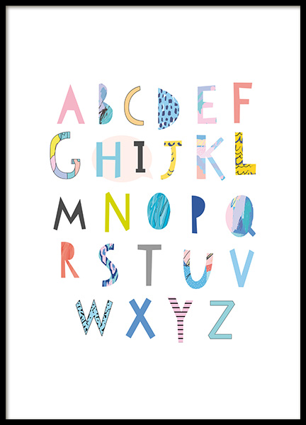 Papercut Alphabet Poster in the group Prints / Kids at Desenio AB (11379)
