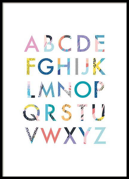 Color Alphabet Poster in the group Prints / Kids posters at Desenio AB (11380)
