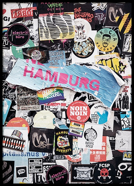 Stadtkind Hamburg Poster in the group Studio Collections / Studio Stadtkind / Hamburg at Desenio AB (11386)