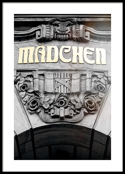 Mädchen Poster in the group Studio Collections / Studio Stadtkind / Hamburg at Desenio AB (11393)