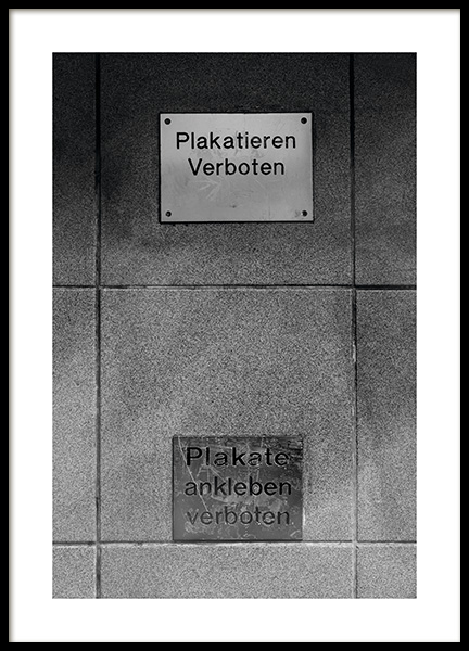 Verboten Poster in the group Studio Collections / Studio Stadtkind / Berlin at Desenio AB (11404)