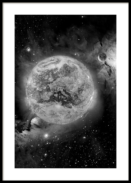 In Space Poster in the group Prints / Black & white at Desenio AB (11436)