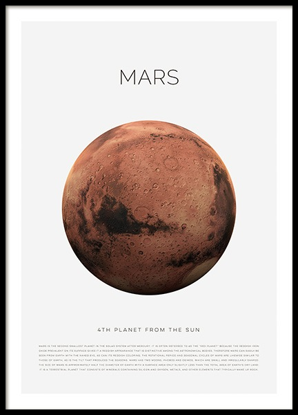 Planet Mars Poster in the group Prints / Kids posters at Desenio AB (11438)