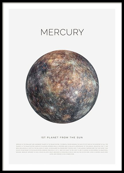 Planet Mercury Poster in the group Prints / Kids at Desenio AB (11439)