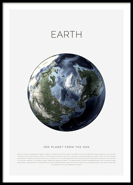 Planet Earth Poster in the group Prints / Kids posters at Desenio AB (11440)
