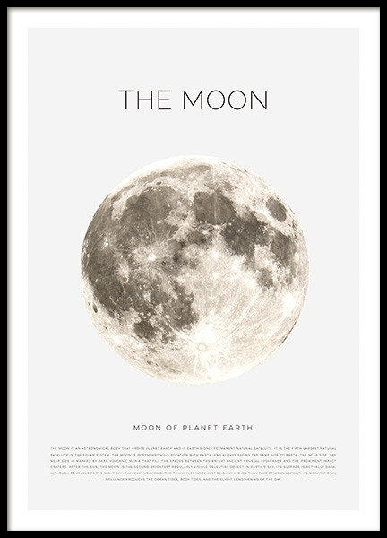 The Moon Poster in the group Prints / Kids wall art at Desenio AB (11441)