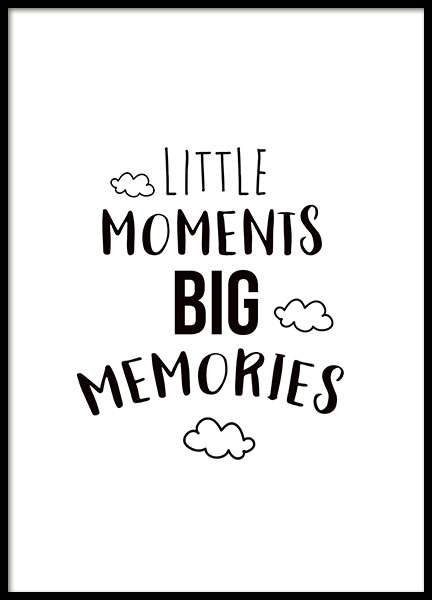 Little Moments Poster in the group Prints / Kids wall art at Desenio AB (11442)