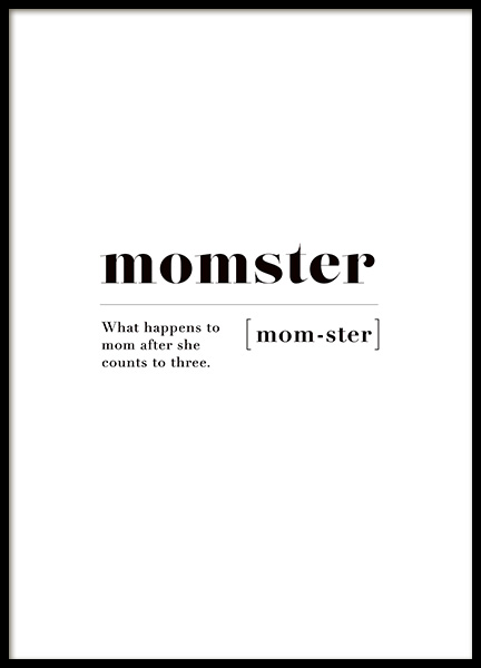 Momster Poster in the group Prints / Sizes / 30x40cm | 12x16 at Desenio AB (11444)