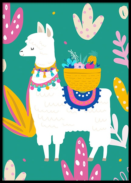 Llama Poster in the group Prints / Kids at Desenio AB (11447)