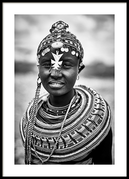 Rendille Woman Poster in the group Prints / Photographs at Desenio AB (11470)