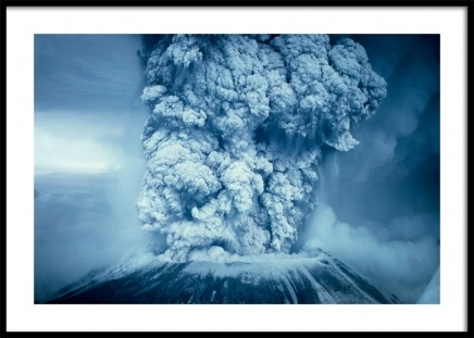 Blue Volcano Poster in the group Prints / Nature at Desenio AB (11475)