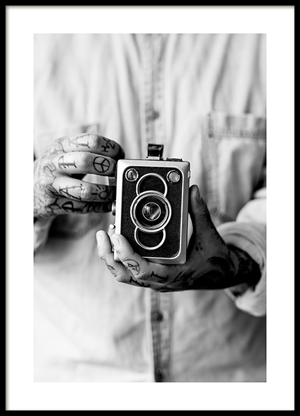 Vintage Camera Poster in the group Prints / Photographs at Desenio AB (11490)
