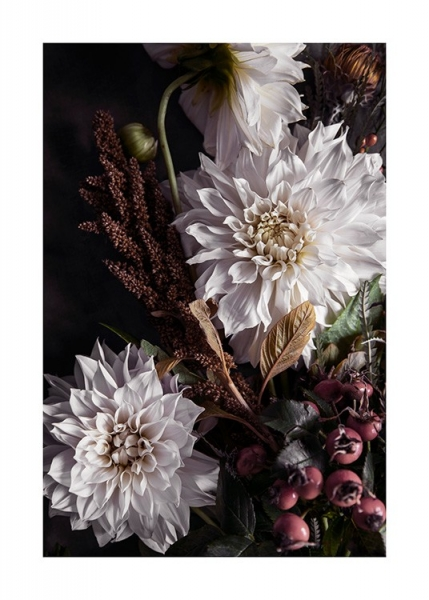 Autumn Dahlias Poster in the group Prints / Floral at Desenio AB (11506)