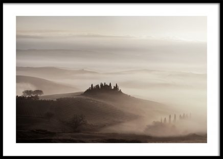 Tuscany Valley Poster in the group Prints / Nature at Desenio AB (11522)