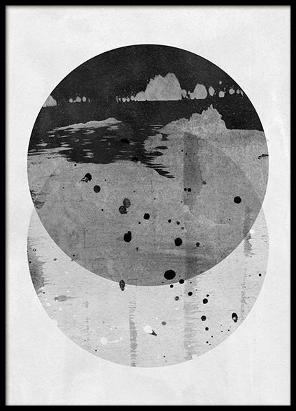 Circles in Two Poster in the group Prints / Black & white at Desenio AB (11537)