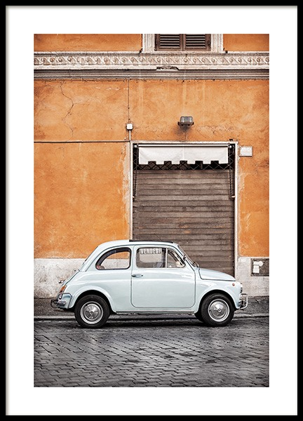 Vintage Car in Rome Poster in the group Prints / Photographs at Desenio AB (11574)