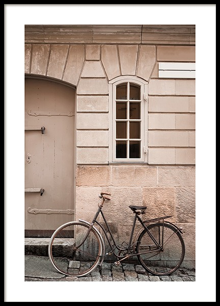 Bike in Old Town Poster in the group Prints / Photographs at Desenio AB (11579)