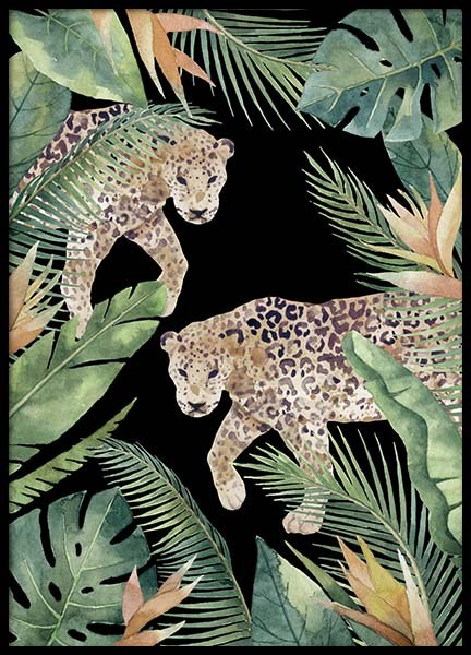 Leopards Poster in the group Prints / Illustrations at Desenio AB (11617)
