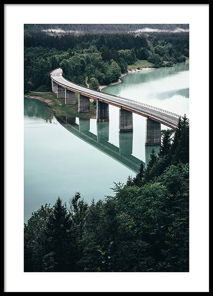 Bridge Over River Poster in the group Prints / Nature at Desenio AB (11631)