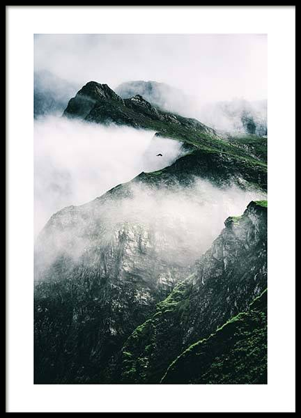 Rugged Misty Mountains Poster in the group Prints / Nature at Desenio AB (11632)
