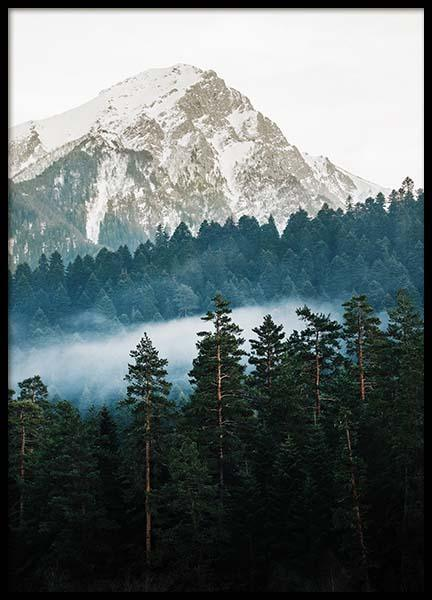 Mountain and Forest Poster in the group Prints / Nature at Desenio AB (11634)