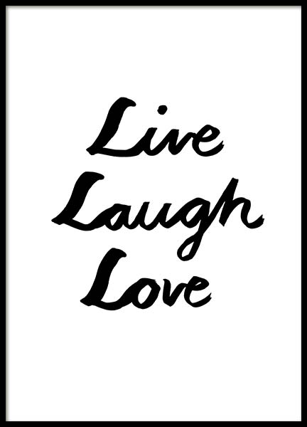 Live Laugh Love Ink Poster in the group Prints / Typography & quotes at Desenio AB (11646)